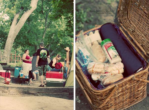 Picnic Basket+Retro+Camping