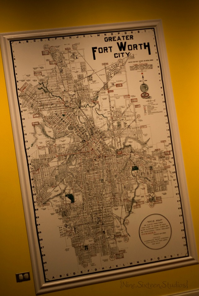 fort worth map+musuem